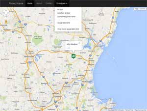 Google Map on Bootstrap